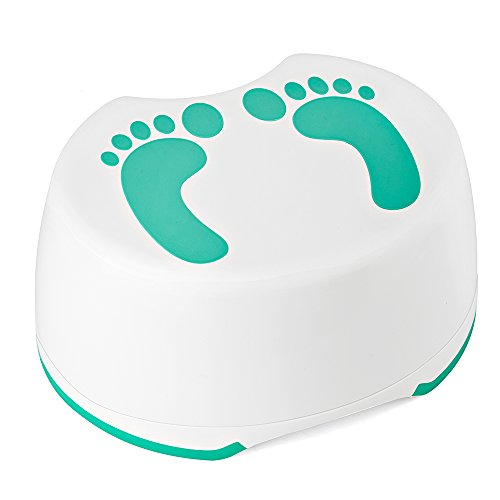 Acko Step Stool For Children Anti-Slip Bathroom and Kitchen Foot Stool Mommy Helper Perfect For Baby Kids Potty Training, Hand Washing, Teeth Brushing (Green) by Acko