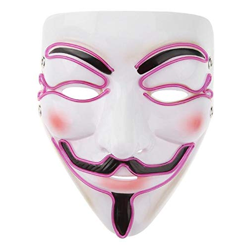 Mask Of Darkness - Halloween Mask El Wire Funny Masks The Purge Election Year Great Festival Cosplay Costume Party - Masks Women Glasses Capes Party Couples Lace Stick Bulk Wear -