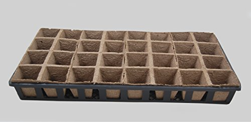 Jiffy Peat Pots / Web flats – 5 Carry Trays, 20-8 Cell Growing Peat Strips – 160 planting cells by Grower's Solution