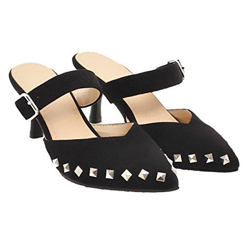 JYshoes Femme Noir JYshoes Mules Mules xq0vUqROw