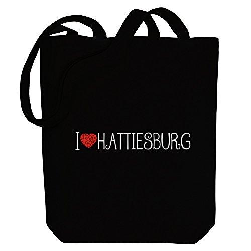 Idakoos - I love Hattiesburg cool style - US Cities - Canvas Tote - Shopping Hattiesburg