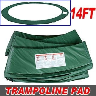 Green-14ft-Trampoline-Parts-Accessory-Round-Trampoline-Safety-Frame-Pad