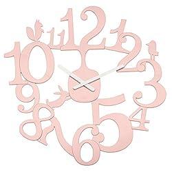 Koziol 2327638 Wall Clock, Powder Pink