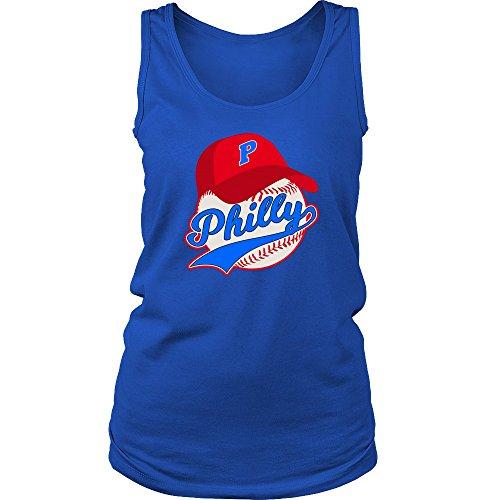 - Dreaming Spirits Philly Baseball Womens Tank Tops - Philadelphia Pennsylvania Philadelphian Fans (M, Blue Blue)