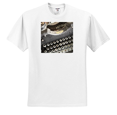 Price comparison product image 3dRose Wild Blackberry Studio - Art and Inspiration - Vintage Typewriter Keys - T-Shirts - Youth T-Shirt XS(2-4) (TS_280091_11)