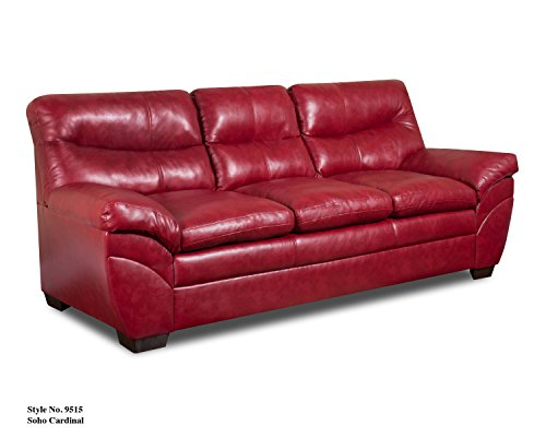 (Simmons Upholstery Soho Bonded Leather Sofa)