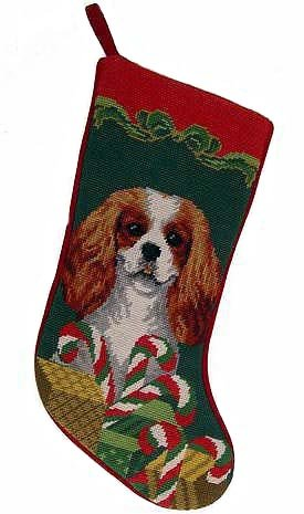 Christmas Stocking: Cavalier King Charles by Elegant Decor