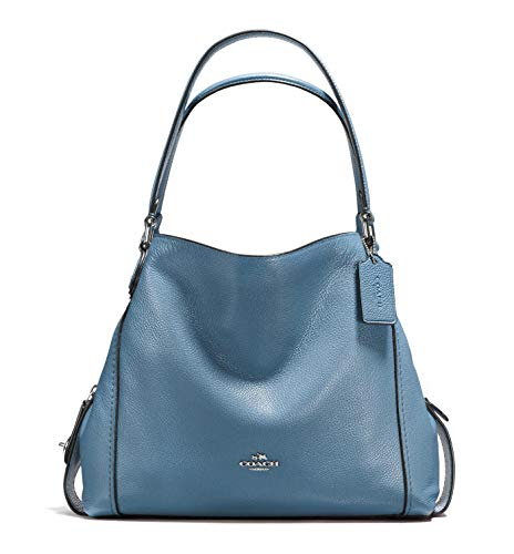 COACH Women's Pebbled Leather Edie 31 Shoulder Bag (Slate)