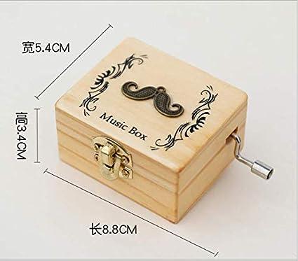 Wooden Hand Music Box Music Box Children Birthday Gift Girl Creative Small Gift