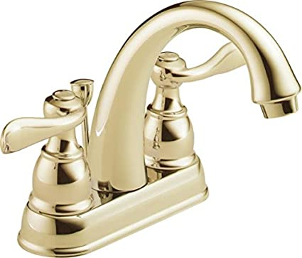 Delta Windemere B2596lf Pb Two Handle Centerset Bathroom Faucet