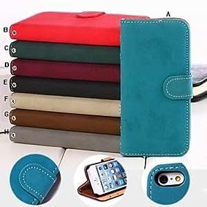 Special Design Vintage Solid Color Pattern Leather Hard Case for iPhone 5/5S , H