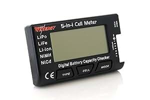 Tenergy 5-in-1 Battery Meter, Intelligent Cell Meter Digital Battery Checker Battery Balancer for LiPo / LiFePO4 / Li-ion / NiCd / NiMH Battery Packs