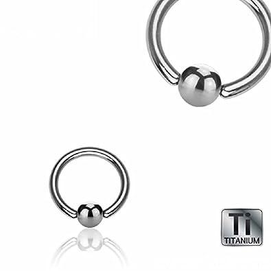 TITAN Piercing Extra dicker Klemmring Intim Septum Brust Ohr Lippe 6,0MM 8,0MM