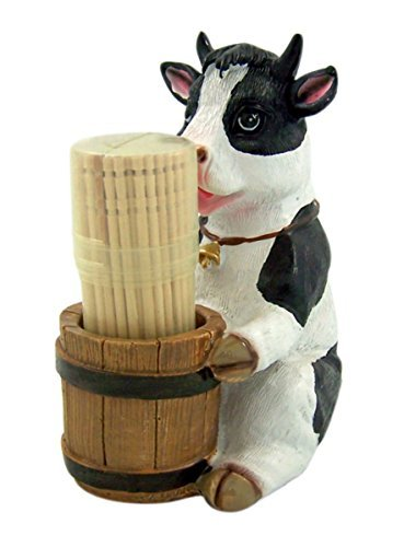 Cow Toothpick Holder Set Decorative Country Kitchen Decor Figurine