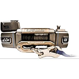 Superwinch S102736 EXP8S 8000 Lb Winch Synthetic Rope Hawse