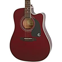 Epiphone EEPUWRCH1-15 Acoustic-Electric Guitar, Wine Red
