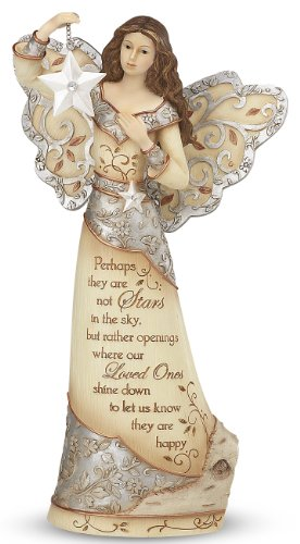 Pavilion Gift Company Elements 9-Inch Sympathy Angel Holding Star, Stars in The Sky ()