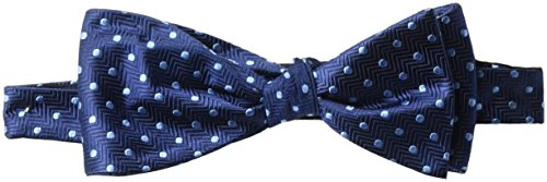 - BUTTONED DOWN Men's Classic Silk Self-Tie Bow Tie, navy dot, One Size