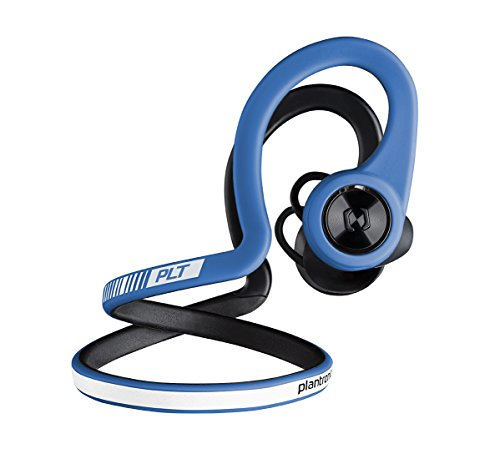 Plantronics BackBeat FIT Boost Edition Sport Earbuds, Waterproof Wireless Headphones with Charging Pouch, Access to Interactive Audio Coaching from the PEAR Personal Coach App, Power Blue by Plantronics (Image #1)