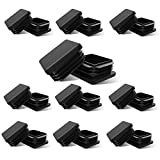 Gizhome Square Plastic Polyethylene Plug 1''x 1'', Tubing End Cap, Durable Chair Glide - 20 Pack