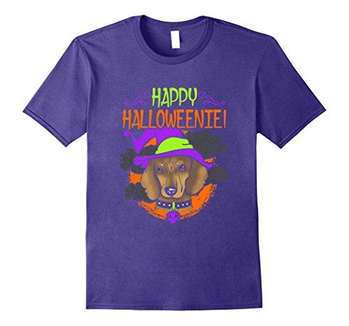 Funny Weenie Dog Costumes (Mens Funny Dog Halloween Shirt Dachshund Hallow Weenie Wiener Dog 3XL Purple)
