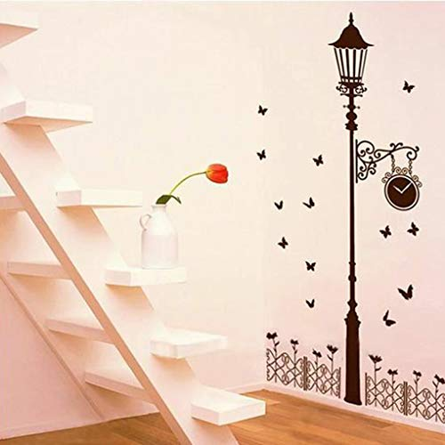 Home Decor - Arrival Simple Street Light Lamp Butterfly Removable Diy Wall Sticker Film Living Room Bedroom Home - Greenery Quirky Quran Modern Silver For Joanna Rug Zelda Knick from Unknown