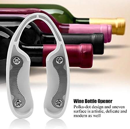 Cortador de papel de vino para amantes del vino, abridor de botellas de vino, sacacorchos para botellas de vino, accesorios de vino, blanco y negro(Blanco)
