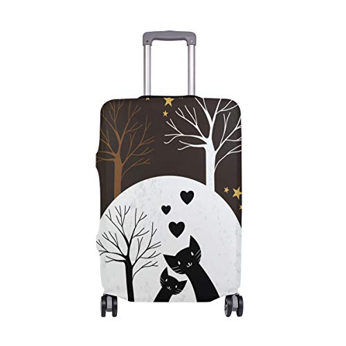 FOLPPLY Love Heart Couple Cats With Tree Luggage Cover Baggage Suitcase Travel Protector Fit for 18-32 Inch by FOLPPLY