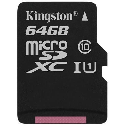 (Kingston Digital 64GB microSDXC Class 10 UHS-I 45R Flash Card (SDC10G2/64GBSP))