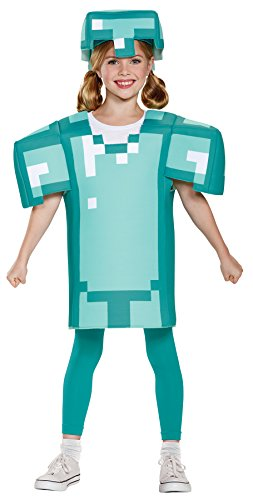 UHC Girl's Minecraft Armor Classic Outfit Funny Theme Child Halloween Costume
