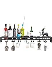 Wijnrek voor wandmontage   Wijnfles Glaswerk Glasrek   Home Keukeninrichting   100cm metalen plank wandplank   Opbergrek voor wijnglazen, fluiten, mokken, woondecoratie