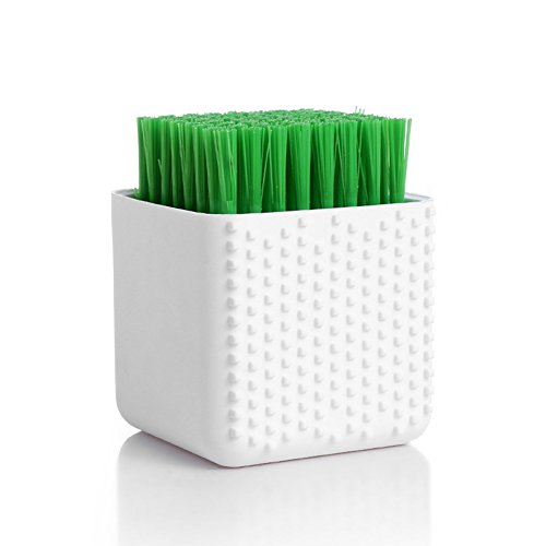 HaloVa Scrubbing Brush, Quality Soft Laundry Scrub Brush, Multi-purpose Portable Lightweight No Scratch Cleaning Brush with Silicone Grip, for Cleaning Clothes Shoes Underclothes, White