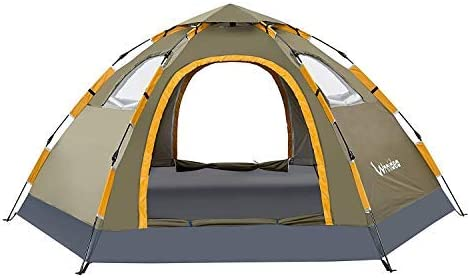 Automatic Install Pop Up Waterproof Hiking Camping Tent with 4 side 6 Color