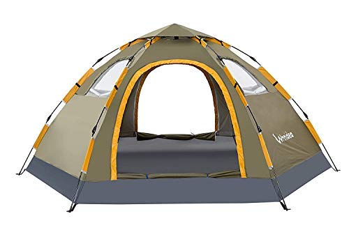 Wnnideo Pop Up Camping Tent 2/4/6 Person Family Portable Instant Tent Double Layer Automatic Tent Waterproof Windproof for Camping Outdoor Hiking for All Seasons