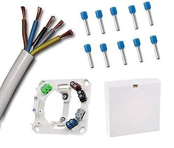 Toma de conexión encimera con 1,5 Metro Cable horno blanco H05VV-F ...