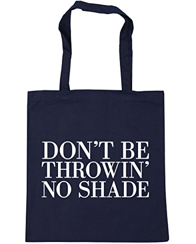 10 be HippoWarehouse litres French x38cm 42cm Beach Navy no Shopping Don't Bag shade Gym Tote throwin' 75OqRrx5