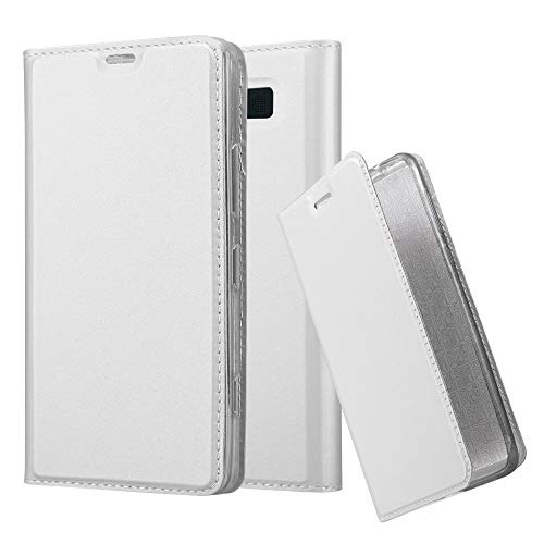 Silver Nokia Pouch - Cadorabo Book Case Works with Nokia Lumia 950 in Classy Silver - with Magnetic Closure, Stand Function and Card Slot - Wallet Etui Cover Pouch PU Leather Flip