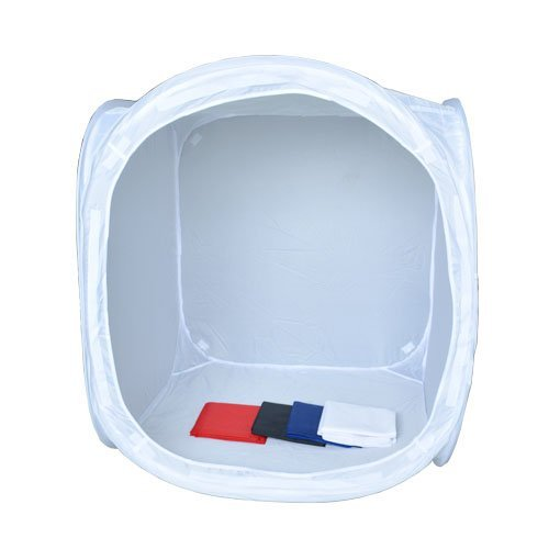 Bestshoot 32x32 inch/80x80 cm Photo Studio Shooting Tent Light Cube Diffusion Soft Box Kit with 4 Colors Backdrops (Red Dark Blue Black White) for Photography by Bestshoot