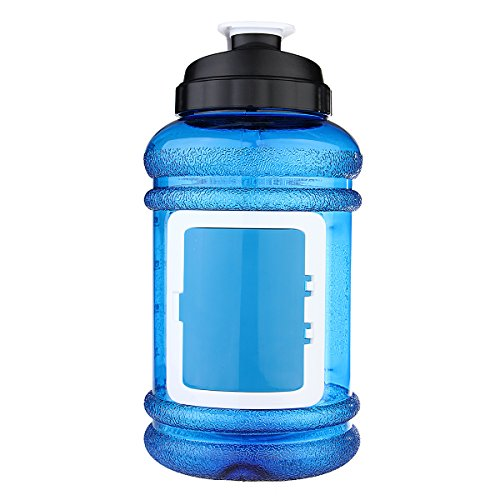 Sport Water Bottle, OUTERDO Drinking Bottle Drinking Container 2.2L BPA Free Big Capacity for Sport Gym Training Camping Workout blue