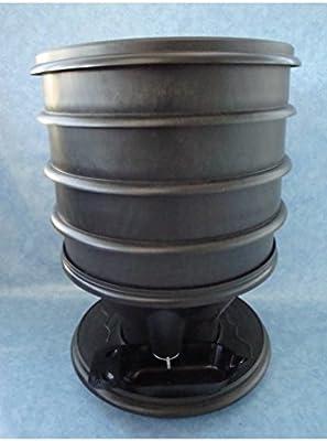 Eco-Worms - Compostador ecológico, color negro: Amazon.es: Hogar