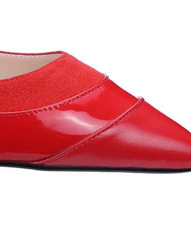 PDX/ Damenschuhe - Halbschuhe - Outddor / Lässig - Leder / Nappa Leather - Flacher Absatz - Komfort / Spitzschuh - Rot / Mandelfarben red-us8 / eu39 / uk6 / cn39