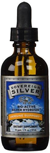 Natural Immunogenics Sovereign Bio-Active Hydrosol for Immune Support, 10 ppm, 2 oz (59ml) Dropper, Silver