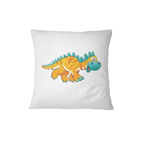 Dinosaur Yellow Facing Right Animals Sofa Bed Home Decor Pillow Cover Renee (Right Hand Facing Computer)
