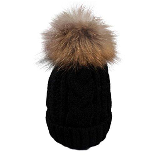 Christmas Gift, Egmy Toddler Baby Winter Crochet Hat Fur ...