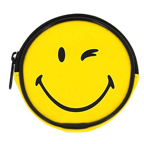 Smiley World Smiley Face Giallo Portafoglio rotondo della moneta