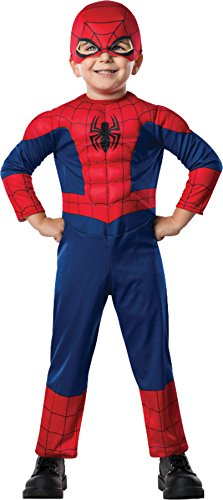 Marvel Spiderman Outfit Superhero Fancy Dress Toddler Halloween Costume, Toddler (3-4T) -