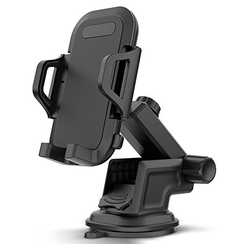 (Maxboost DuraHold Series Car Phone Mount for iPhone Xs Max XR X 8 7 6s Plus SE,Galaxy S10 S10+ S10e S9 S8 Edge,Note 9 8,LG G7,Pixel,HTC[Washable Strong Sticky Gel Pad/Extendable Holder Arm (Upgrade)])