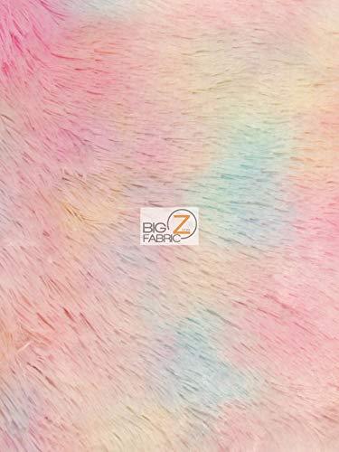 Hug-Z Minky Solid Shaggy Baby Soft Fabric by The Yard DIY Baby Blankets Decor Clothing Snuggle (Rainbow 4)