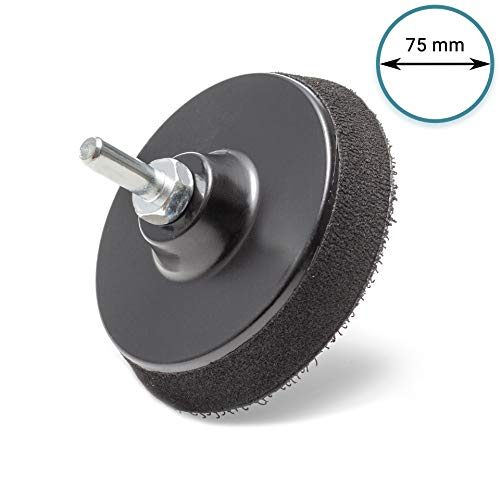 3/'/' 75mm Hook /& Loop Backing Pad Sanding Polishing Disc With Drill Attachment