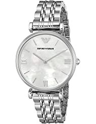 Emporio Armani Womens AR1682 Retro Silver Watch